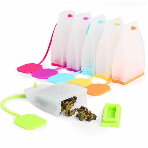 Sweet Leaf Tea Infuser Silicone Reusable Strainer Tea bag Herbal Spice Filter 1X