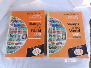STANLEY-GIBBONS-SIMPLIFIED-CATALOGUE-STAMPS-OF-THE-WORLD-1988-2-TOMES
