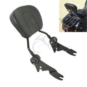 Adjustable-Sissy-Bar-Passenger-Backrest-W-Pad-For-Harley-Touring-Models-2009