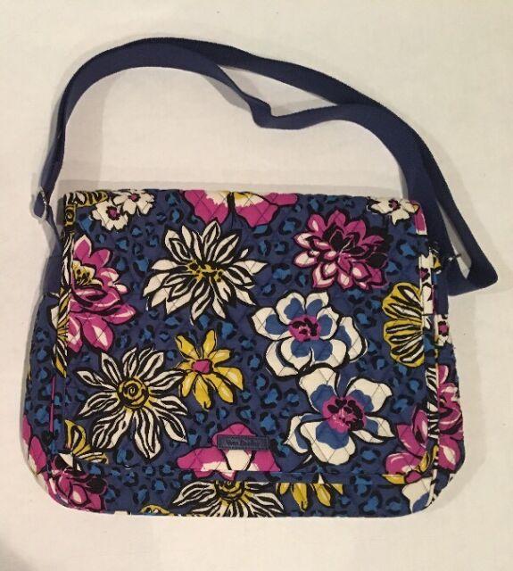 Vera Bradley MESSENGER African Violet School Book Bag Campus Crossbody  Shoulder 91a60639ff1b7