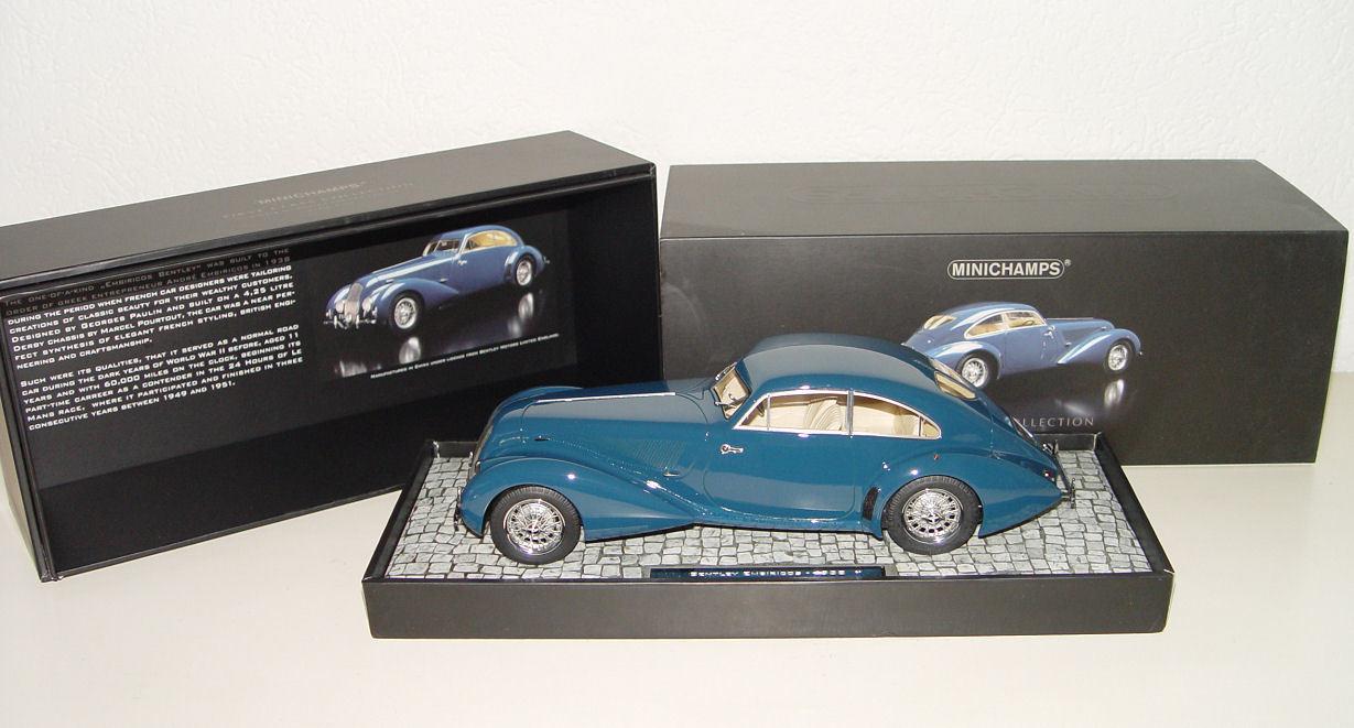 MINICHAMPS 107139821 Bentley Embiricos 1938 Bleu  bleu 1:18 Nouveau Nouveau Nouveau neuf dans sa boîte   Offre Spéciale    Outlet Store En Ligne    Une Performance Supérieure  dbd907