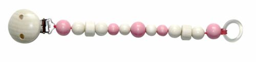 Hess 13709 Schnullerkette soft rosa Erzgebirge Holz NEU #