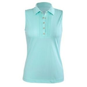 Ladies-Tail-Sleeveless-Golf-Shirt-with-snap-front-Small