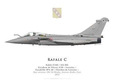 """EC 1//7 /""""/'Provence/"""" par G. Marie Print Dassault Rafale C 2008"""