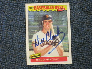 Details About Will Clark Autographed Baseball Card Jsa Auction Certified 2