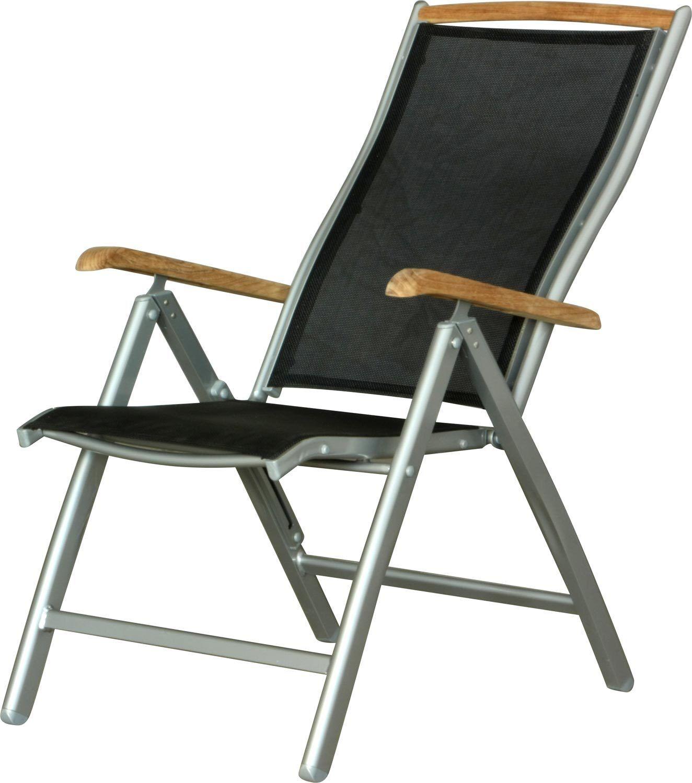 IB-Style® Set di due sedia da giardino pieghevole ALU teak I Due colore I