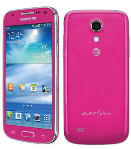 new samsung galaxy s4 mini sgh i257 16gb pink at t. Black Bedroom Furniture Sets. Home Design Ideas