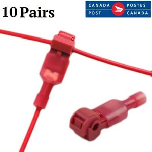 200 PIECES Red T-Tap Male Fully Insulated Terminal 22-18  Quick Disconnect UL US