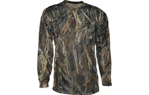Mens Waterfowl L//S Shirt Camo Hunting Shooting Bird Fowl Game Odor Scent Control