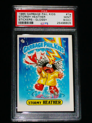GARBAGE PAIL KIDS 1985 1st Series #7a Stormy Heather GLOSSY Graded PSA 9 OC