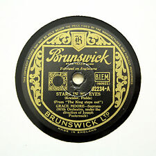 "GRACE MOORE ""Stars In My Eyes / Learn How To Lose"" BRUNSWICK 02234 [78 RPM]"