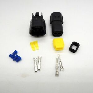 1 set 2Pin Waterproof Wire Connector Plug Car Auto Electrical  denso connectors
