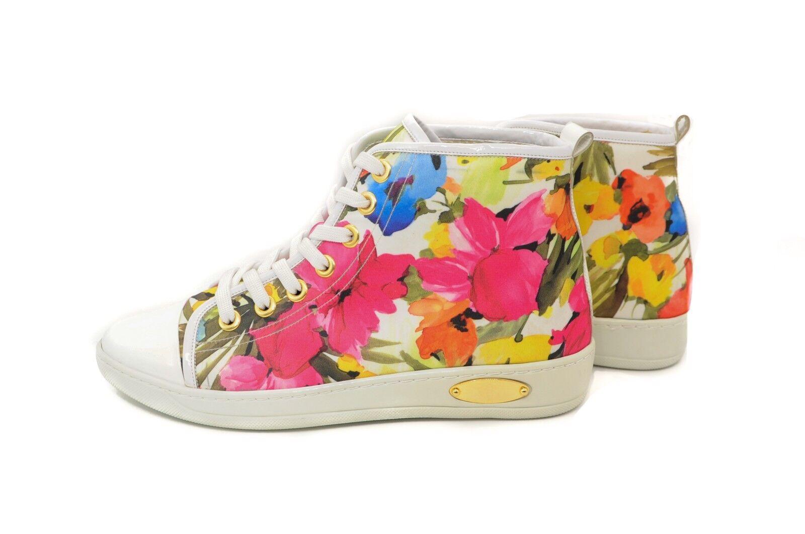 Goody2shoes Ladies' Floral Multi color Applique Trainer Pumps UK Unique Design