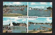 Posted 1975 Multiviews of Oulton Broads, Wherry Hotel, Quay, Dinghy Racing