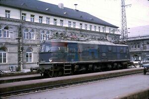 Original Dia / slide DB E18 incl. (c): 118 016 - 5 Nürnberg Hbf Mai 1972 K14