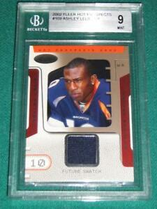 2002 Hot Prospects Ashley Lelie Jersey Rookie Card - BGS 9 (with 1- 10)