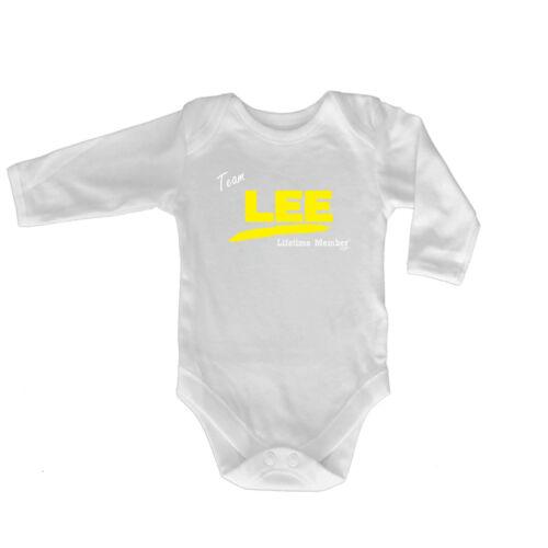 Funny Baby Infants Babygrow Romper Jumpsuit Team Lifetime Member Lee V1