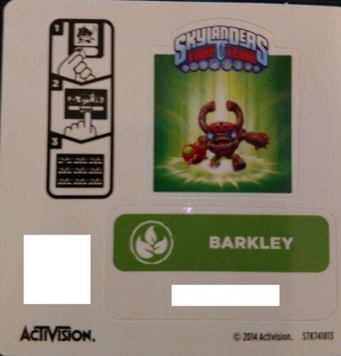 Barkley Skylanders Piège équipe Autocollant//code seulement!