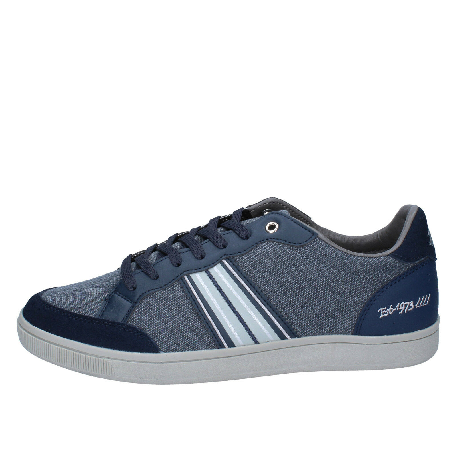 Herren schuhe LOTTO 42 sneakers blau grau textil BY843-42