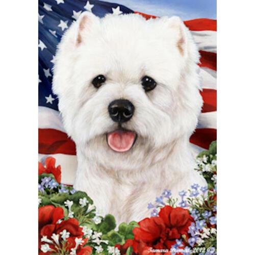 Westie 2 Patriotic Flag