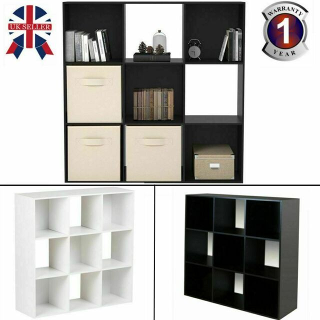 new style ef688 1ed27 9 Cube Wooden Book Shelf Shelving Bookcase Cabinet Display Unit Storage  36