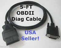 5ft Obd2 Obdii Main Test Data Cable For Autel Maxiscan Ms609 Scanner Code Reader