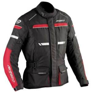Ixon-Fjord-Veste-Mens-Black-Red-Textile-Armoured-Motorcycle-Jacket-New