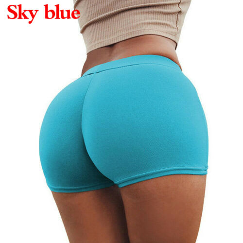 Women Sports Yoga Shorts Push Up Ruched Gym Workout Fitness Casual Hot Pants