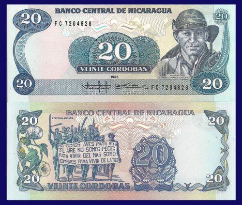 Demonstration for Agrarian reform flowers UNC 20 Cordoba Nicaragua P152