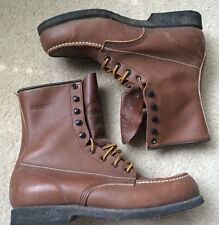 "Wolverine 3899 Steel-Toe Vintage 8"" Moc-Toe Chukka Work Boot Men's 7"