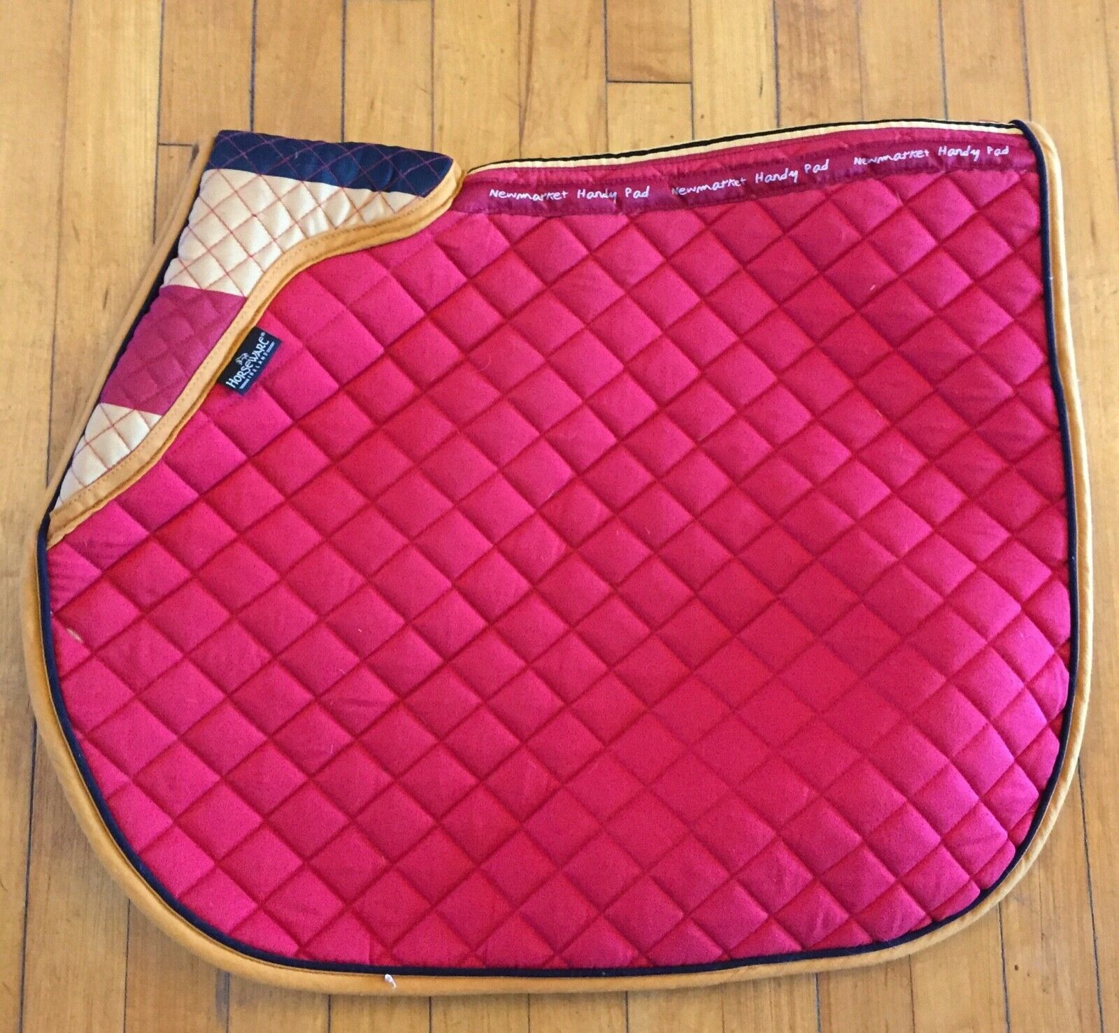 Rambo Horseware  Cotton Quilted All Purpose Pad - Newmarket gold Whitney Stripe  outlet store