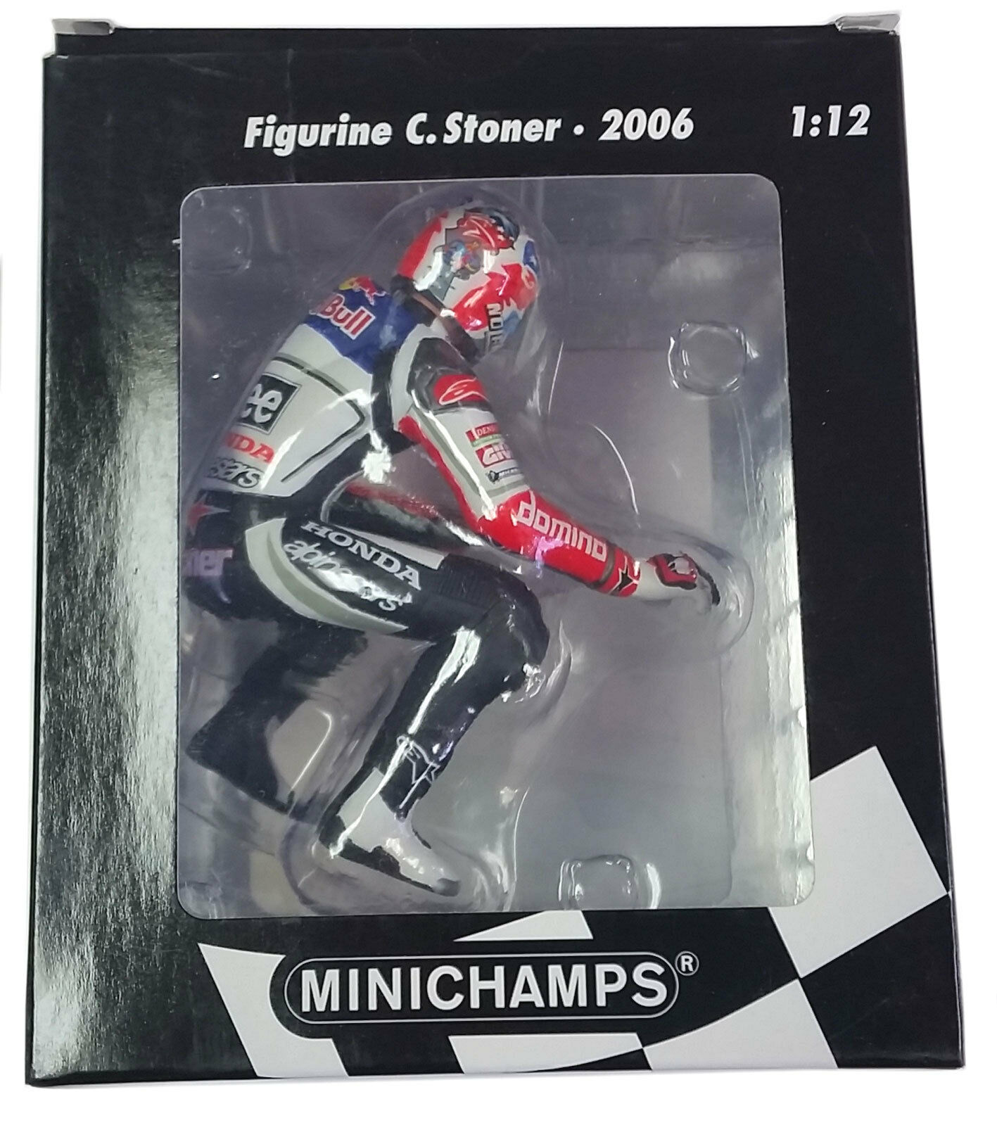 MINICHAMPS 1/12 2006 MOTOGP TEAM LCR HONDA CASEY STONER FIGURE SITTING 312060127