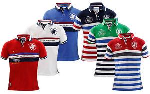 Kids-Polo-tee-shirt-garcon-a-rayures-T-shirt-a-manches-courtes-100-Coton-Logo-Imprime-T