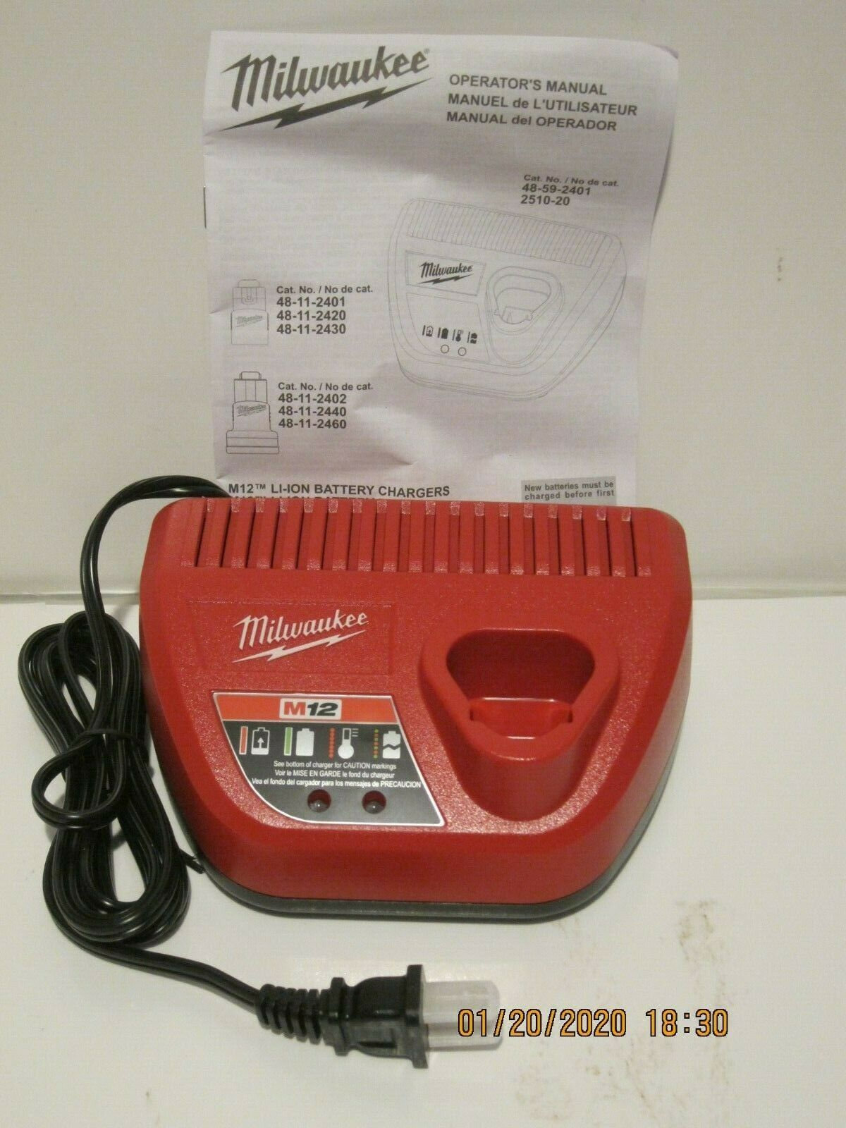 used tested Milwaukee M12 Battery Charger