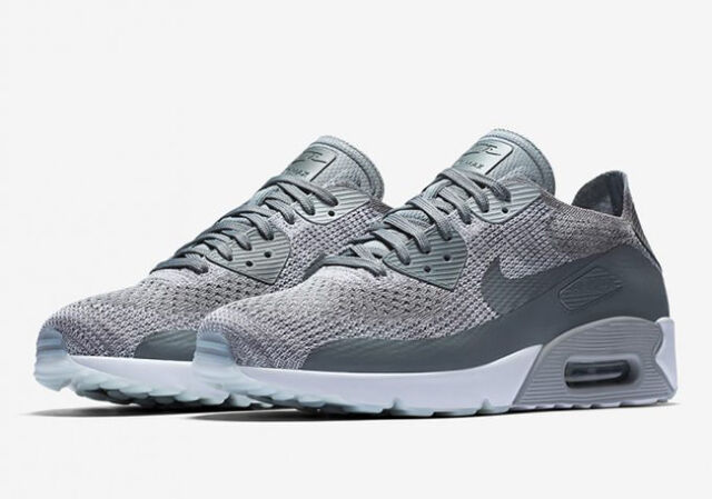 new styles 07271 fa28d Nike Air Max 90 Ultra 2.0 Flyknit Men Pure Platinum Grey White 875943 003