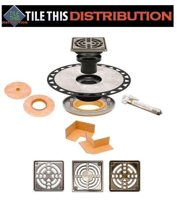 SCHLUTER KERDI RESIDENTIAL ADAPTOR DRAIN KITS   Farbe Selections Available