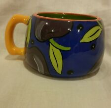 2006 Starbucks PeFi Costa Rica  Multi Color Mug Cup Fruit Plum Purple Royal Blue
