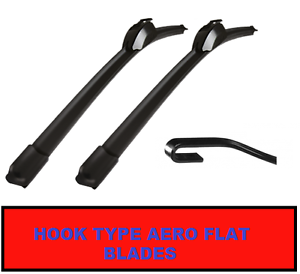 19/20 Front Aero VU Specific Fit Flat Wiper Blades Windscreen Window Jointless
