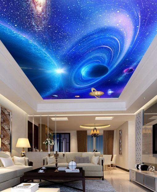3D Planet Blau 90 Ceiling WallPaper Murals Wall Print Decal Deco AJ WALLPAPER GB