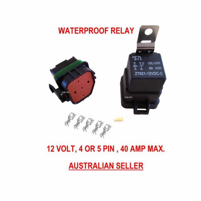 Relay Waterproof 12v Automotive 4 5 Pin 40 Amp Switch 12