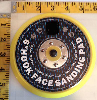 Neiko VELCRO® backed  6 in sanding polishing pad with 5/16-24 TPA for DA sander