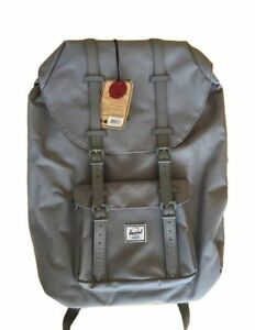 72e364af27e2a0 Image is loading Herschel-Little-America-Rare-ALL-Grey-Canvas-amp-