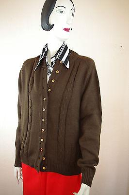 Onestà Giacca In Maglia True Vintage Lavorazione A Trecce 80er Donna L Marrone Nos Shirt Knitted Brown-mostra Il Titolo Originale Acquista One Give One