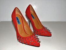 """PENNY SUE SILVER SPIKED STILETTOS W/4 1/2"""" Steel Heel US Shoe Size (Women's) 7.5"""