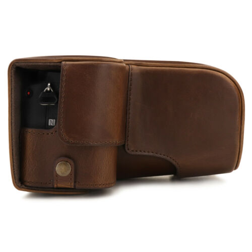 MegaGear Ever Ready Leather Camera Case for Sony Alpha A6600 18-135mm