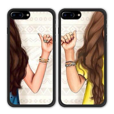 arrives b0d61 205dd Best Friend BFF Finger Hook Phone Case For Apple iPhone X 8 Samsung Galaxy  S8 S7 | eBay