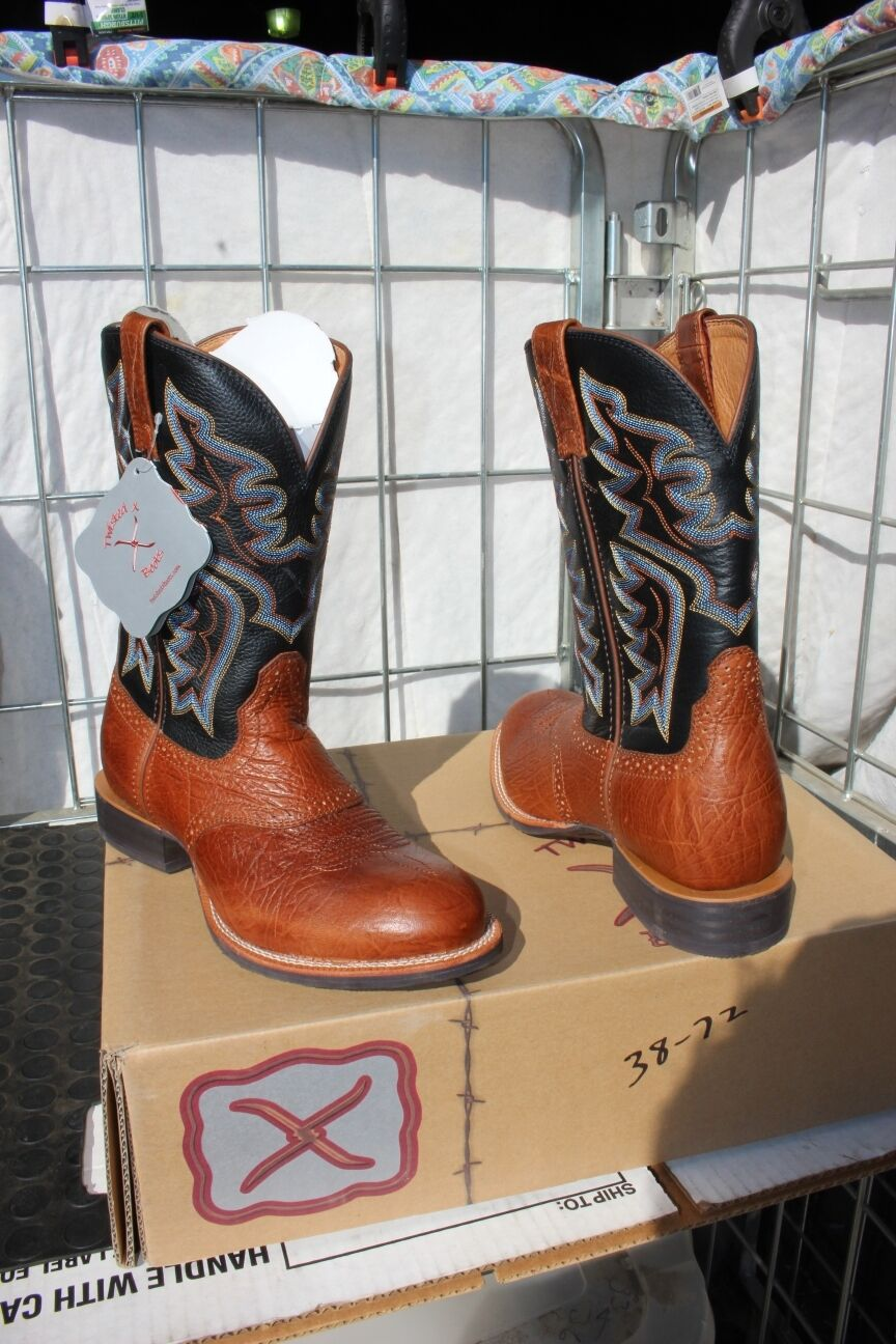 38-75 New  Twisted X MENS 13D Cattlemen western Stiefel was 199.00