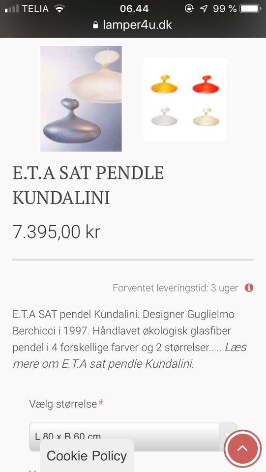 Pendel, E.T.A SAT PENDLE KUNDALINI