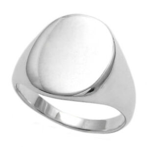 Sterling Silver Engravable Mens & Womens Signet Ring Size J - Z+1 Wqf68GZFD