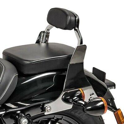 Schienale Sissy Bar S1 per Harley Davidson Sportster 04-19 rimovibile con docking kit nero